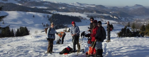 Snowshoeing in polish Carpathians